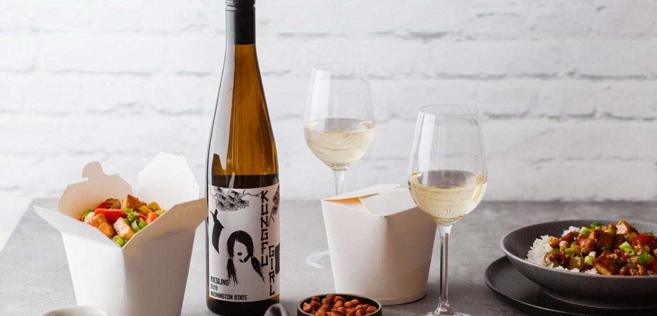 Kung Pao Tofu mit Wein