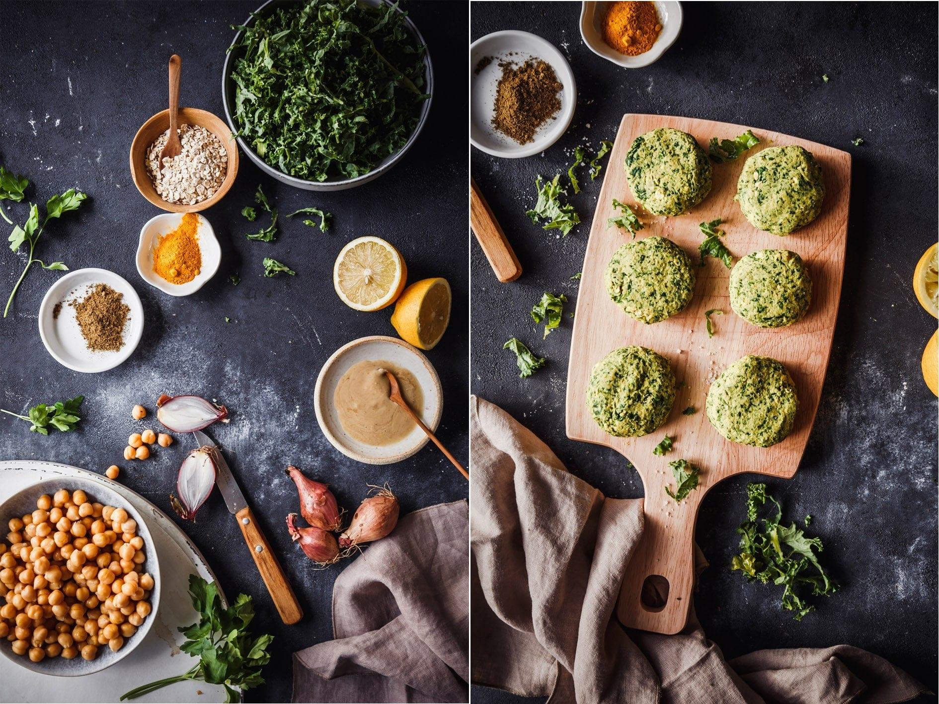 Zutaten für Grünkohl FAlafel