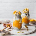 Chia-Parfait mit Mango-Süßkartoffelpüree