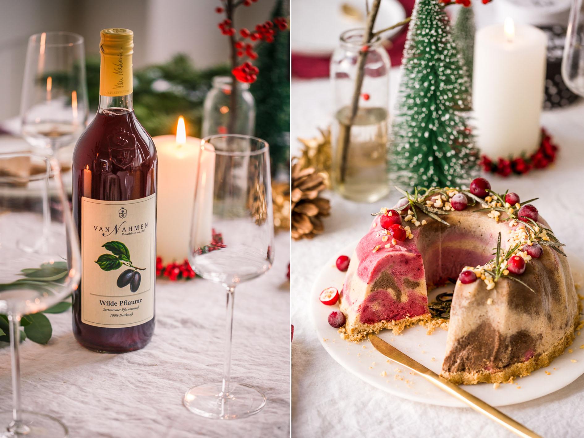 Getränkebegleitung zum Weihnachtsdessert