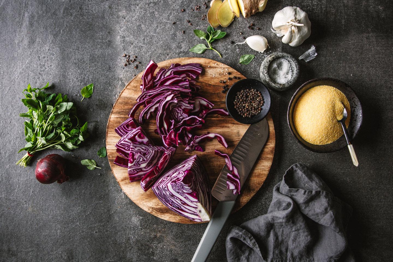 Zutaten für Rotkohlsalat