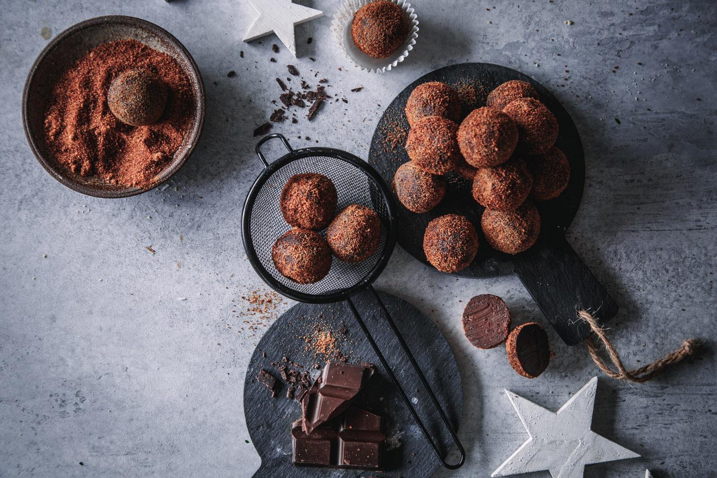 Schokoladen-Orangen-Trüffel