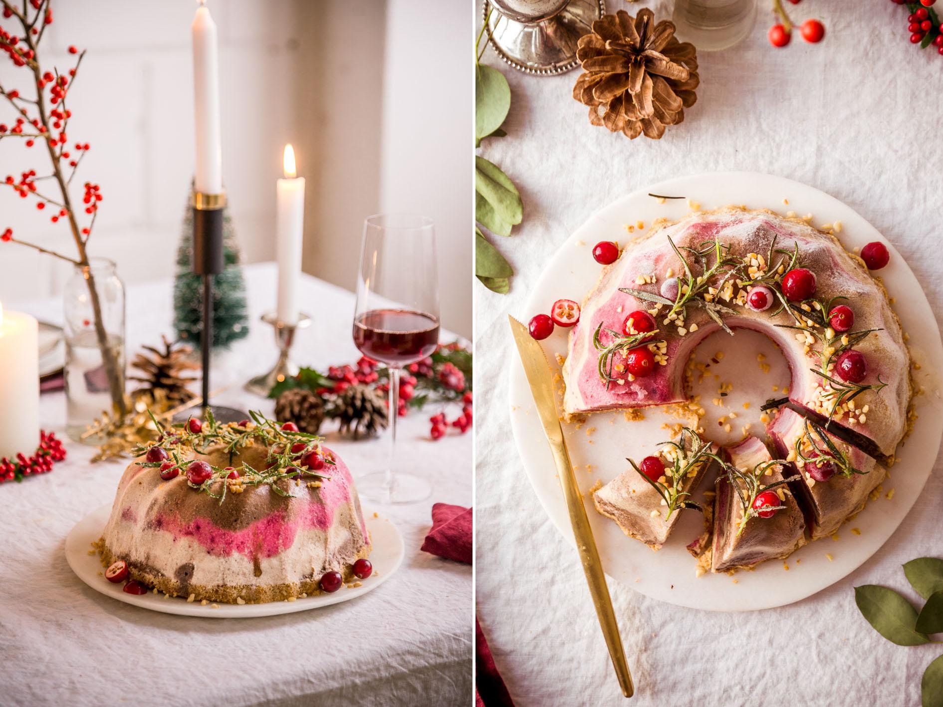 Eisgugelhupf als Weihnachtsdessert