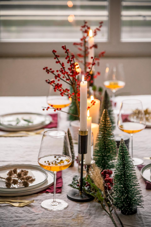Tischdeko für's Weihnachtsessen
