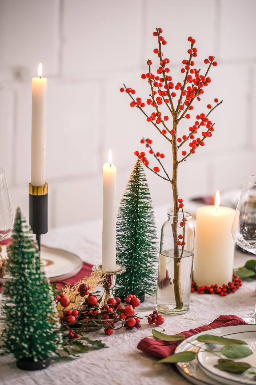 Weihnachtsessen Deko