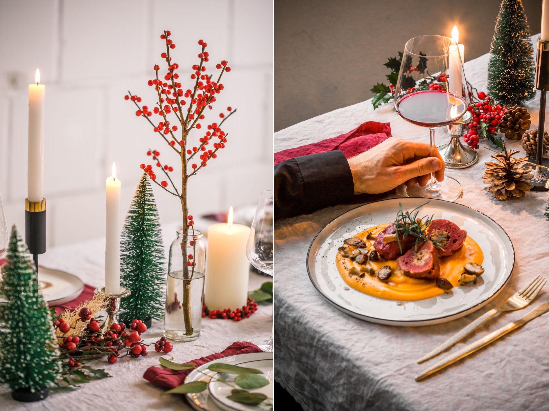Weihnachtessen Tischdeko