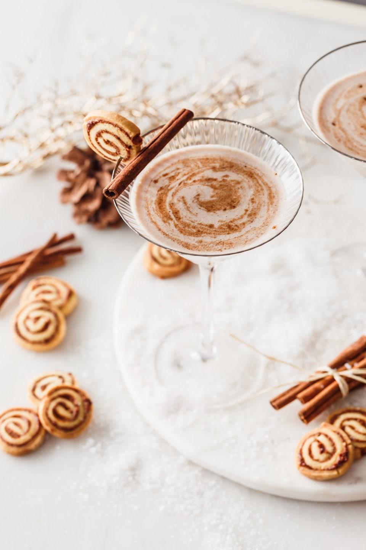 Weihnachtlicher Zimtschnecken Martini