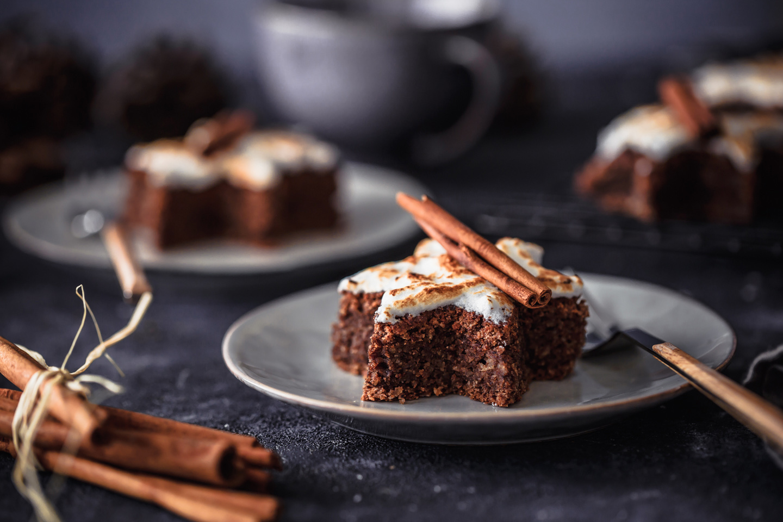 Zimtstern Brownies