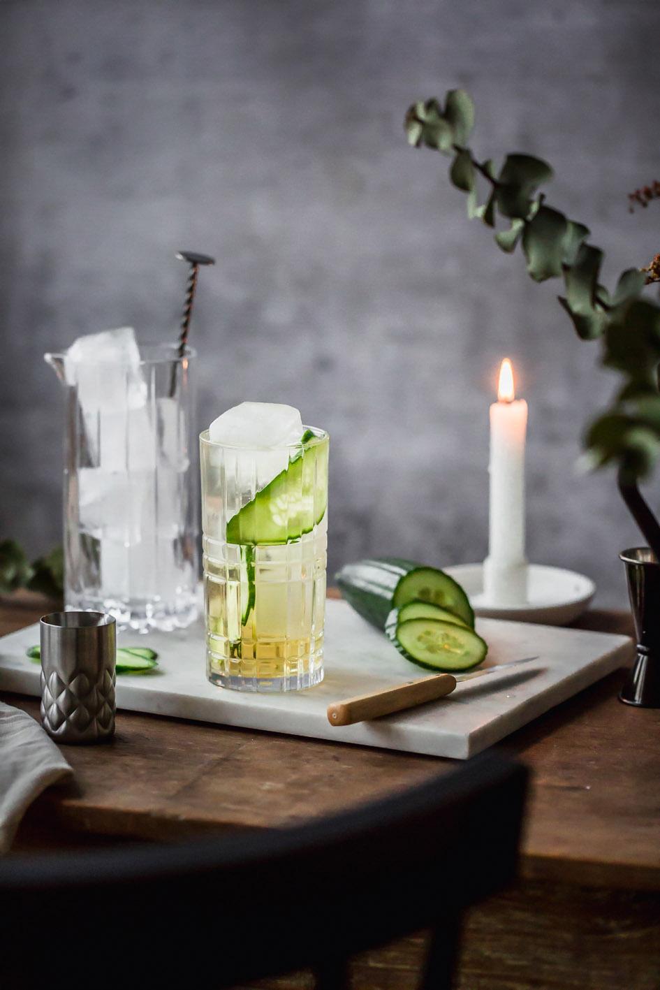 Alkoholfreier Verjus Tonic