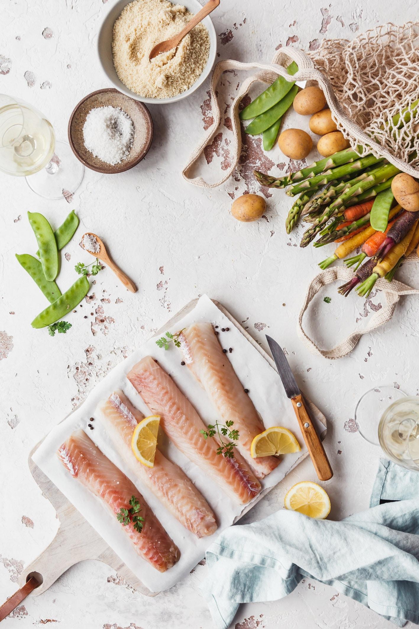 Zutaten für Seelachs mit Knsuperkruste